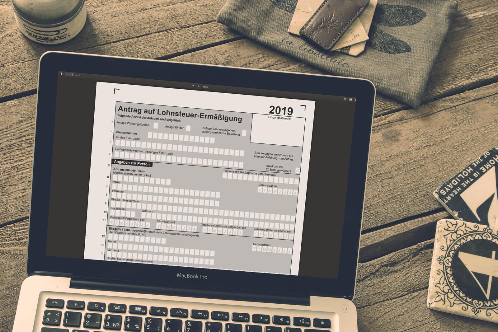 Jetzt Lohnsteuer-Freibeträge für 2019 beantragen