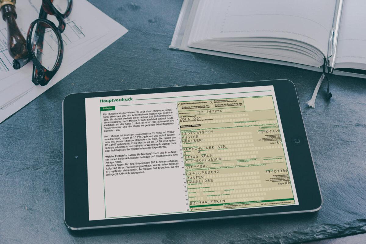 Rangfolge bei Ehegatten und Lebenspartnern im Steuerformular