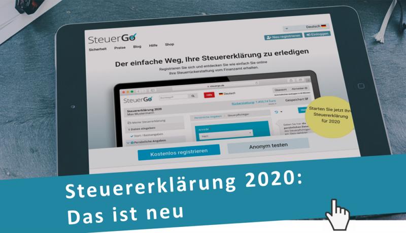 Steuererklärung für 2020: Das ist neu